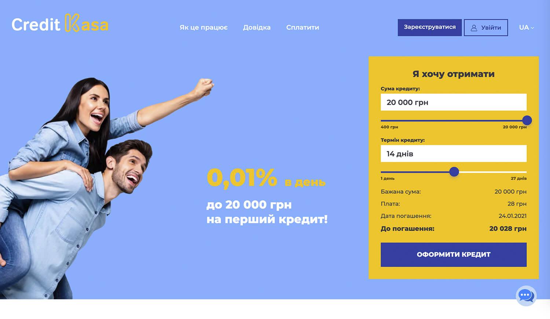 кредит каса creditkasa швидкі кредити