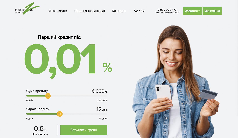 ForzaCredit форза кредит швидкі кредити
